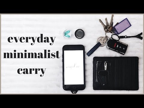 WHATS IN MY BAG - Everyday Carry | Minimalism Series
