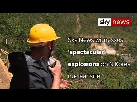 'Spectacular' blast at North Korea test...