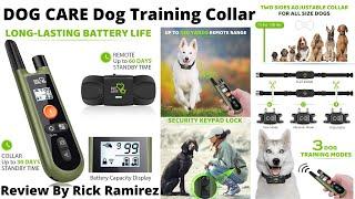 DOG CARE Best ReChargeable Waterproof Dog Training Collar 1000ft Remote Range Safe & Humane 2020