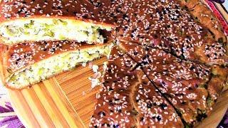 Шикарный заливной пирог с зеленым луком и творогом, вкусно так, что за уши оттащишь!