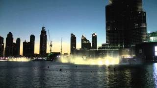 Dubai fountain evening show April 2015