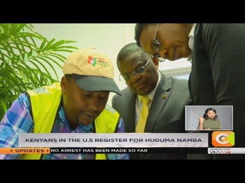 VIDEO: Kenyans in US register for Huduma Namba - Kenya
