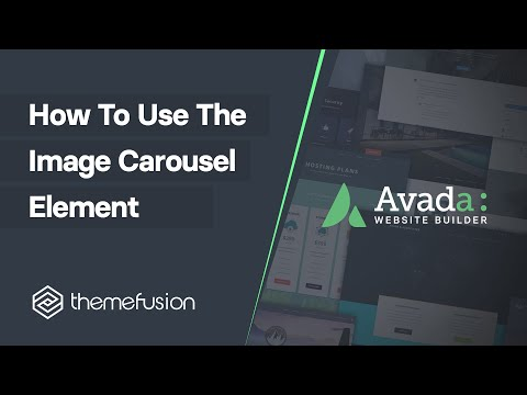 How To Use The Image Carousel Element Video