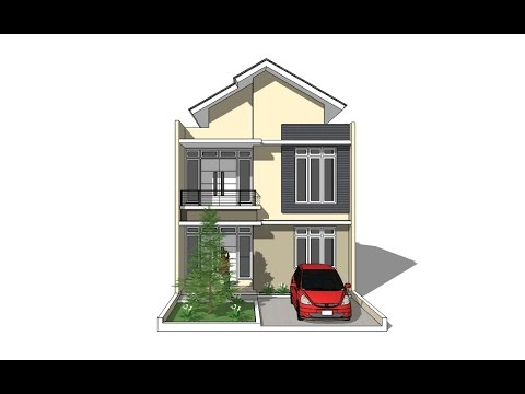 House design tutorial using google sketchup youtube for Google house design