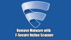 Remove Malware with F Secure Online Scanner
