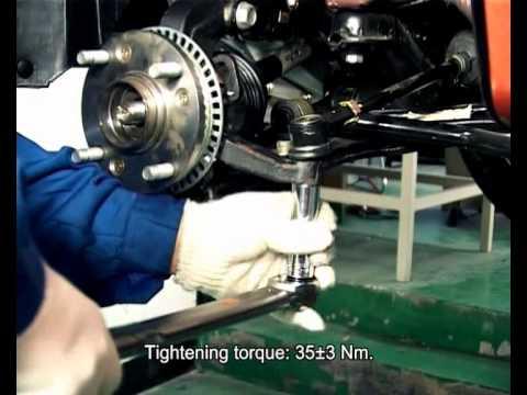 Снятие и установка поворотного кулака Chery A13 / Форза