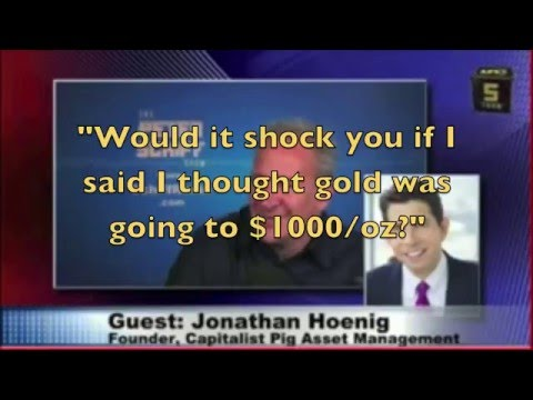 Hoenig Predicts Gold Drops to $1000/oz in Jan 2013