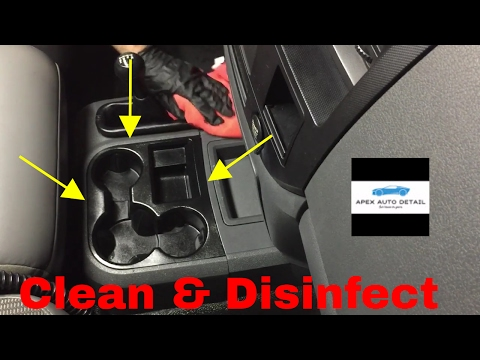 How to Clean And Disinfect The Center Console In Your Car.