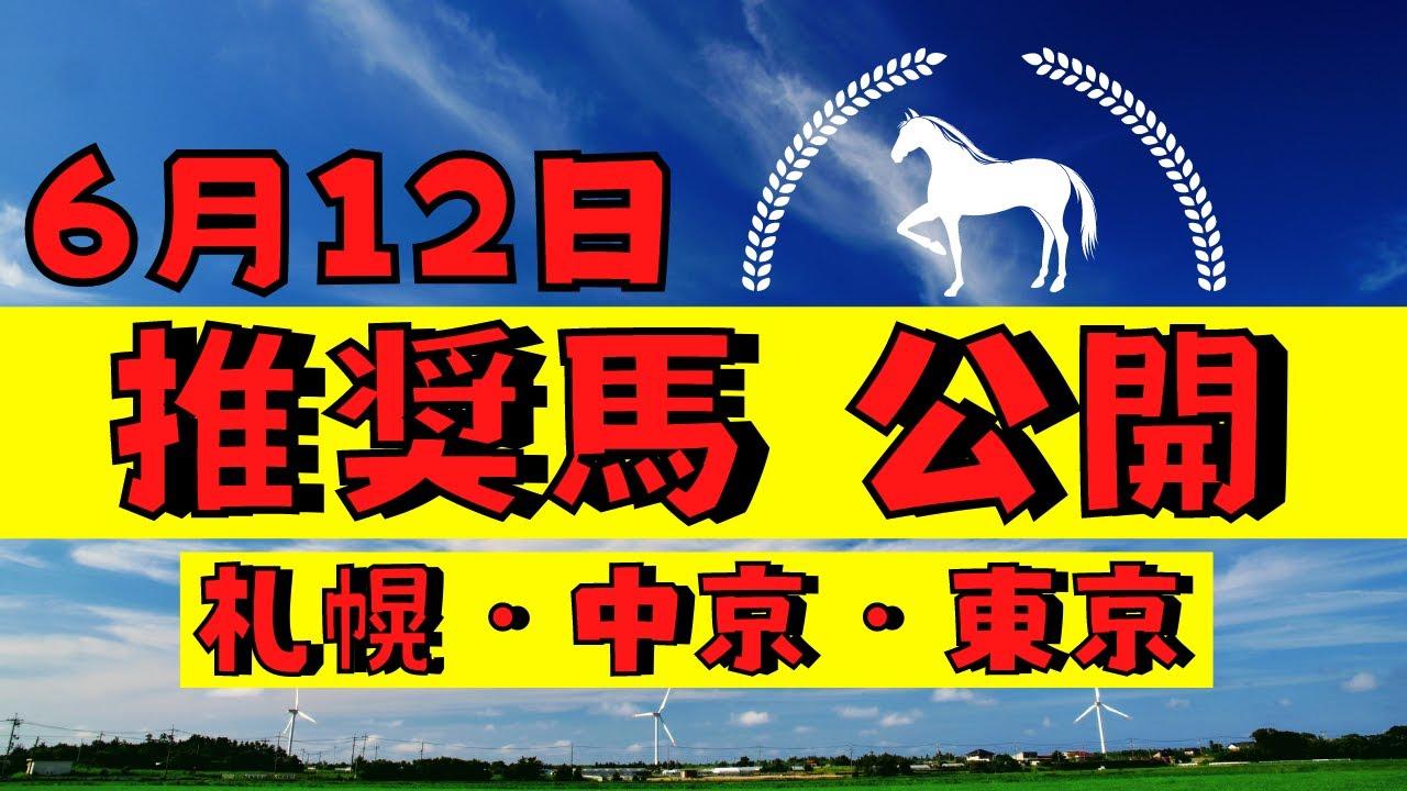【週間競馬予想TV】2021年6月12日(土) 中央競馬全レースの中から推奨馬を紹介。札幌・中京・東京の平場、特別戦、重賞レース。POG候補馬紹介!注目馬を考察。