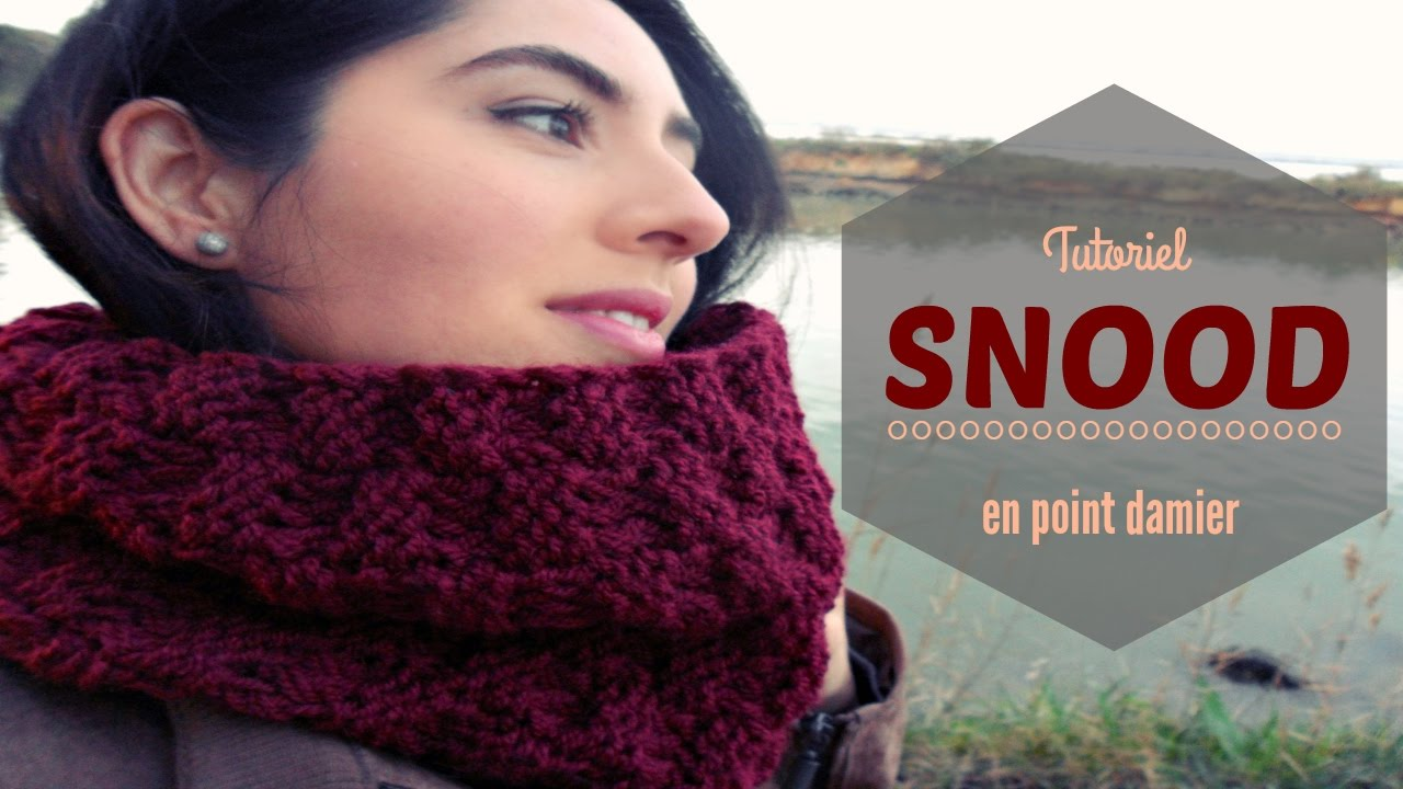 tricoter un snood facile en point damier youtube. Black Bedroom Furniture Sets. Home Design Ideas