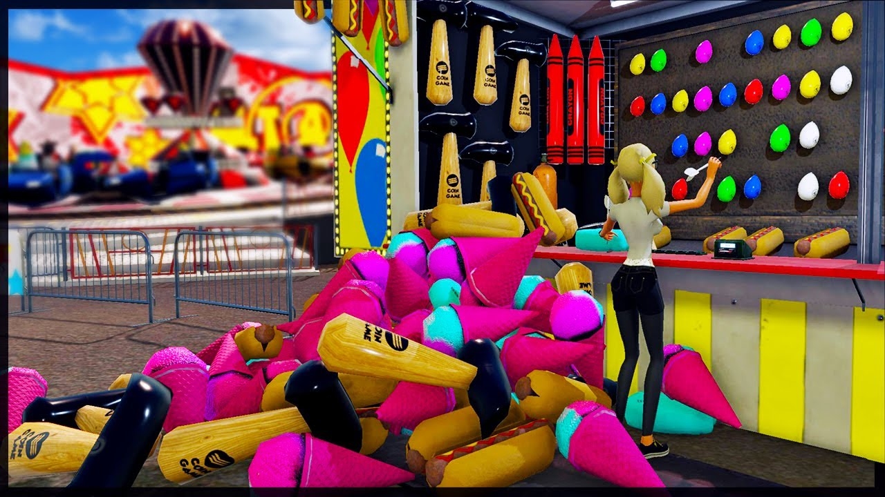 Bankrupting The Carnival With My Carnival Game Scam - The Coin Game  Survival - YouTube