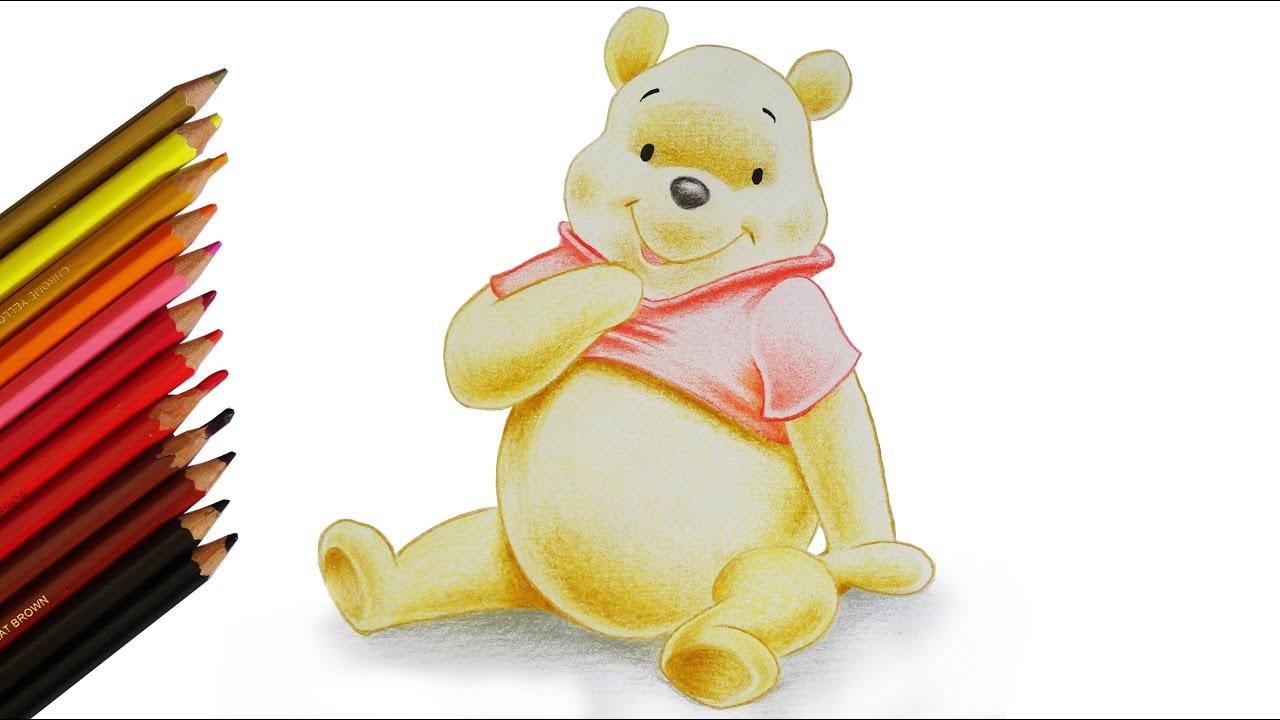 S01e07 drawing cute winnie the pooh bear cartoon color pencil