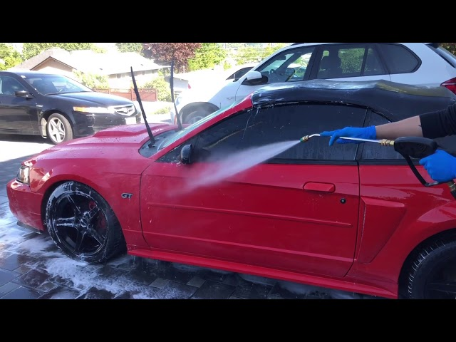 Cut Polish & Wetsanding + Ceramic Coating on a Red New Edge Mustang! EP:13