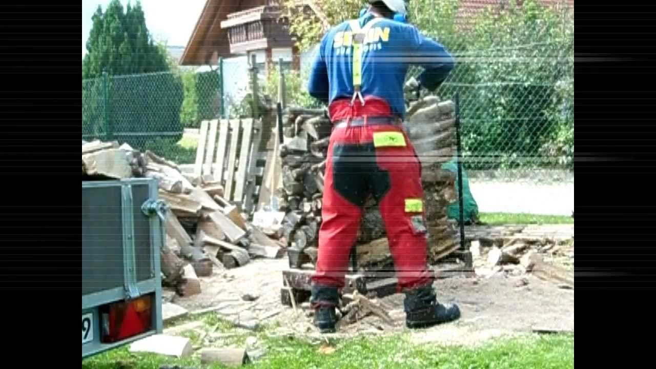 sägebock eigenkonstruktion für ca. 0,5m³ brennholz stihl ms260 - youtube