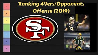 49ers vs Opponents Offense Ranking 2019 | NFL Tier List