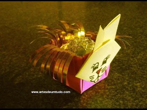 How To Make Origami Easter Bunny Basket