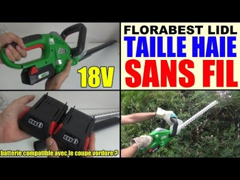 taille haie sans fil lidl florabest fah 18 cordless hedge trimmer akku heckenschere youtube. Black Bedroom Furniture Sets. Home Design Ideas