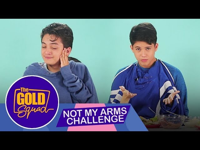 THE GOLD SQUAD DOES THE NOT MY ARMS CHALLENGE | The Gold Squad Andrea, Francine, Seth and Kyle