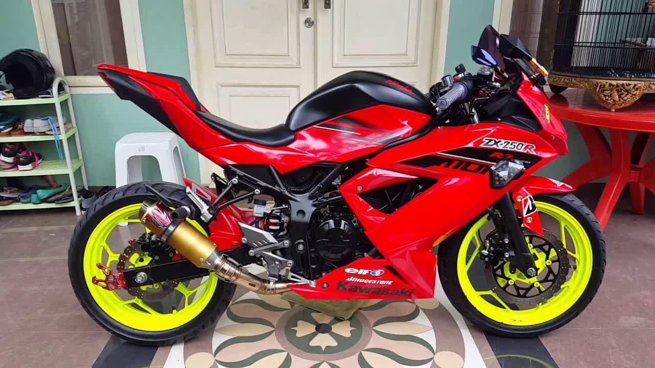 Modifikasi Modif Kawasaki Ninja 250 Rr Mono Keren Youtube