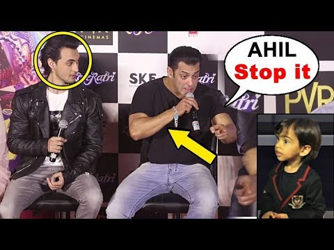 Salman Khan Shout On Nephew Ahil Khan In Between Loveratri Trailer Launch