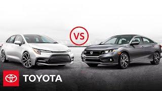 homepage tile video photo for 2020 Toyota Corolla vs. 2020 Honda Civic | Car Comparison | Toyota