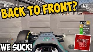 F1 2014: Back To Front Challenge - WE SUCK!