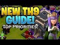 WHAT TO DO FIRST AT NEW TH9 - TH9 UPGRADE PRIORITIES - Let's Play TH9 2018 Ep.1 - Clash of Clans