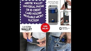 AIRstik Wallet Universal Phone or ID Credit Card Holder