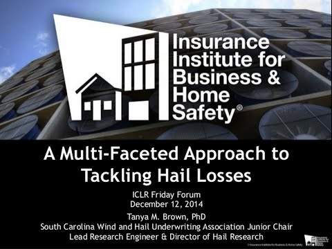 ICLR Friday Forum: A multifaceted approach to tackling hail losses (Dec. 12, 2014)