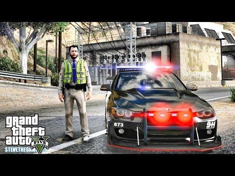 GTA 5 MODS LSPDFR 1067 - BMW 3 F30 PATROL!!! (GTA 5 REAL LIFE PC MOD)