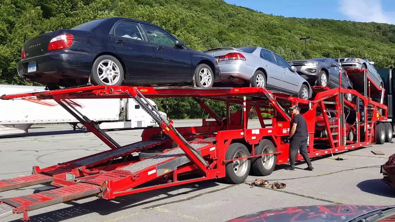 Loading Cars Onto 2015 Wally Mo Trailer Youtube