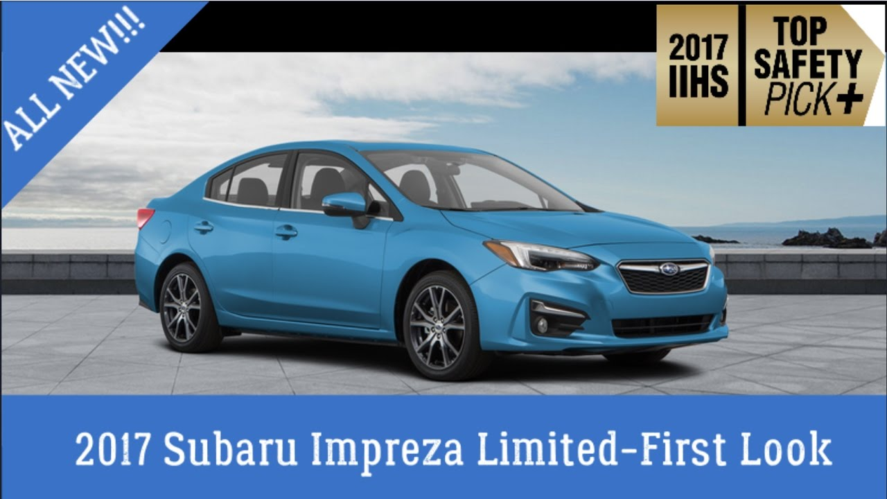 2017 subaru impreza limited first look youtube. Black Bedroom Furniture Sets. Home Design Ideas