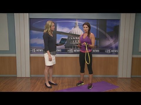 Fitness Friday: Resistance Band Arm Workout 5pm Interview 5-8-15