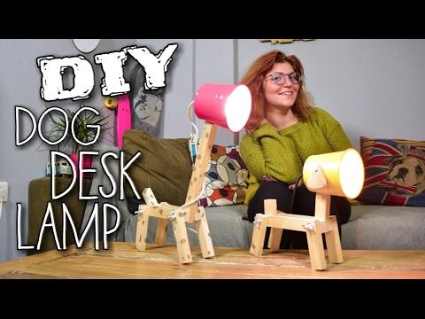 DIY - DOG DESK LAMP (English subtitles) Room Decor Ideas