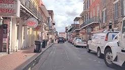 Driving Downtown - New Orleans' Bourbon Street 4K - USA