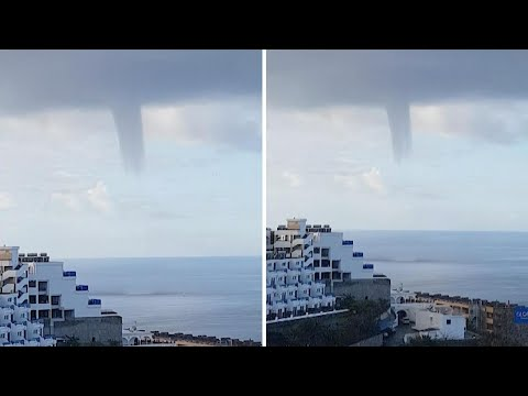 Water Spout Off Gran Canaria