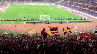 Dentro lo stadio ti sostengo.. coro ASRoma della Curva Sud. Roma - Juve 3:1 del 13.05.2017