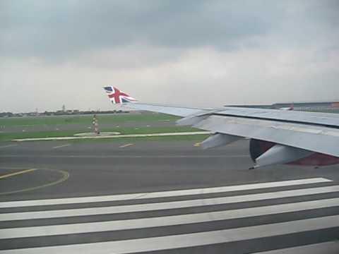 Take off from IGI Airport New Delhi