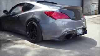 Hyundai Genesis 2.0T TurboXs turboback exhaust смотреть
