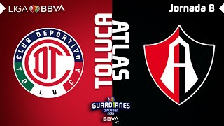 Resumen | Toluca vs Atlas | Liga BBVA MX - Guard1anes 2021 - Jornada 8
