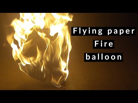 Tutorial - How to make origami flying paper fire balloon / Diy - paper hot air balloon  by paper art