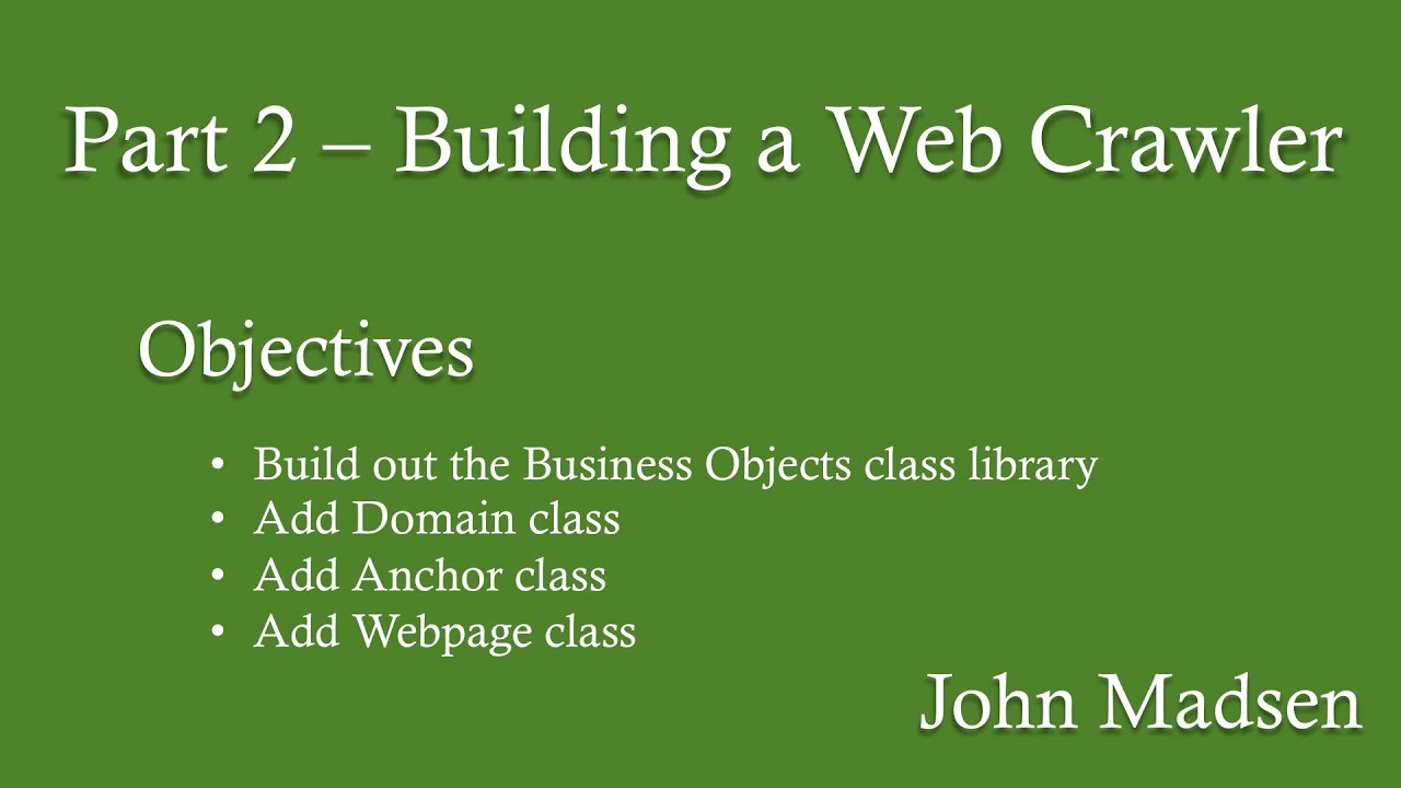 How to write a web crawler in java part 2