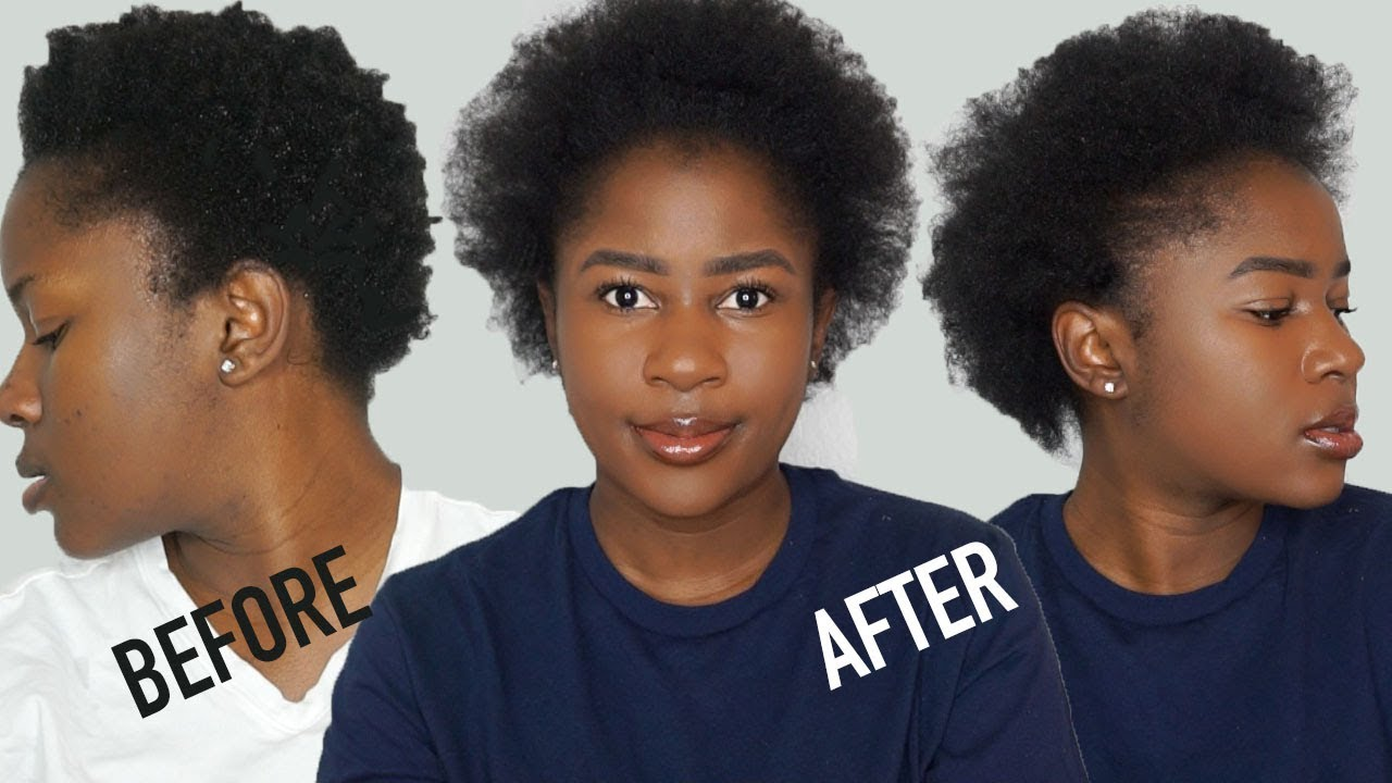 TALK THROUGH HEATLESS Blow Out On SHORT 4C Natural Hair Rant
