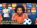 Marcelo fala o que acha sobre Vinicius Júnior em entrevista e afirma: ''É o presente e futuro''