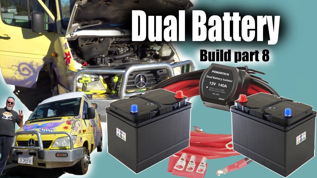 sprinter conversion build  dual battery youtube