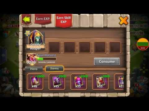 Quick Hero Rolls Events for Grimfiend Talent Revitalize? Castle Clash Lithuania