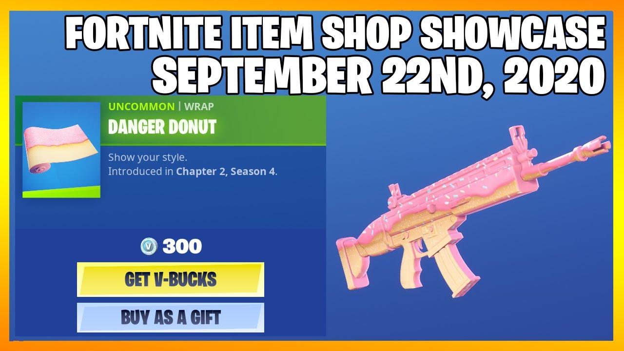 Fortnite Item Shop *NEW* DANGER DONUT WRAP! [September 22nd, 2020] (Fortnite Battle Royale)
