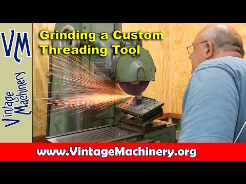 Grinding a Custom Threading Tool on the Surface Grinder