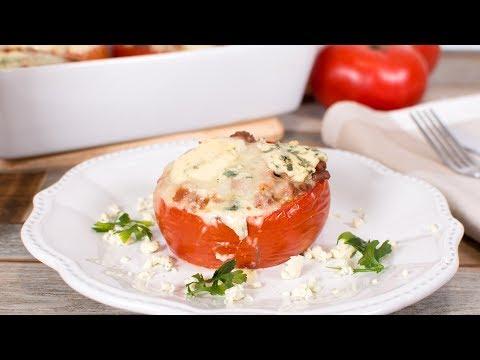 Tomates Rellenos de Carne Picada y Queso Azul | Recetas al Horno