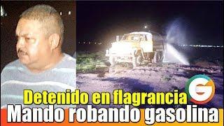 Director de Policía detenido en flagrancia robando combustible en #Chihuahua